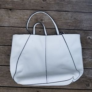 White Tote with Yellow Interior